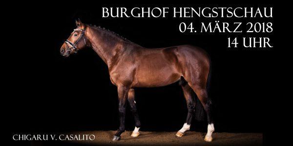 Einladung zur Burghof Hengstschau am 04. März 2018