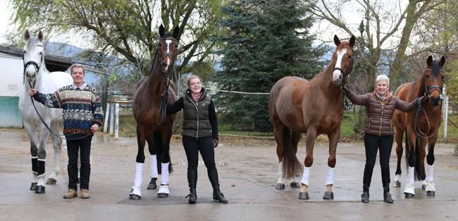 Sigrid Ebert und ihre Pferde